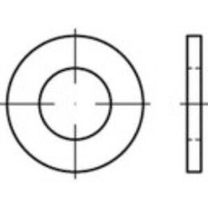 Toolcraft Skiver 4,3 mm 9 mm ISO 7089 Stål sink galvanisert 200 stk(er) TOOLCRAFT 147810