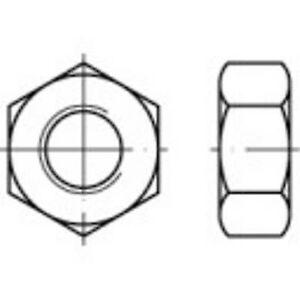 TOOLCRAFT 1065002 Sekskantet nøtter M6 DIN 934 rustfritt stål A2 100 eller flere PCer
