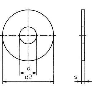 Toolcraft Skiver 2,7 mm 8 mm Rustfritt stål 100 stk TOOLCRAFT 2,7 D9021-A2 194711