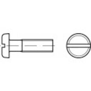TOOLCRAFT 104482 Pan skruer M3 5 mm spor DIN 85 stål sink galvanisert 200 eller flere PCer