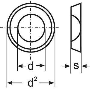 Toolcraft Skiver 5,3 mm 10 mm stål sinkbelagt 100 stk 100 stk TOOLCRAFT A5,3 D125:A2K 194701