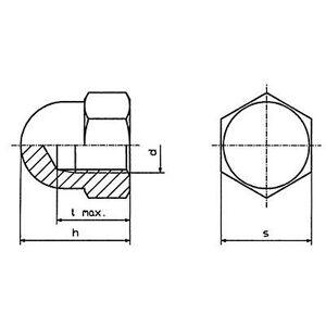 TOOLCRAFT M4 D1587-POLY 194791 Hex cap nøtter M4 plast 10 eller flere PCer