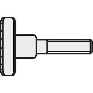 TOOLCRAFT M3 * 6 D464-5.8:A2K 190321 Knurl skruer M3 6 mm DIN 464 stål sink galvanisert 10 eller flere PCer
