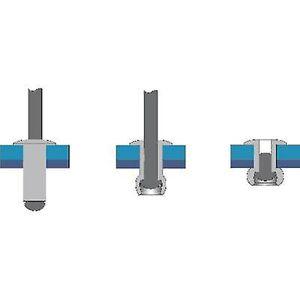 Bralo S1010NO4012 Blind klinke (Ø x L) 4 x 12 mm stål Aluminium 50 eller flere PCer