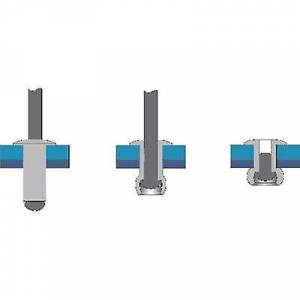 Bralo S1010NO4008 Blind klinke (Ø x L) 4 x 8 mm stål Aluminium 50 eller flere PCer