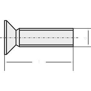 TOOLCRAFT M3 * 20 D965-4.8-A2K 194637 Underskrudde skruer M3 20 mm Phillips DIN 965 stål sink belagt 100 eller flere PCer