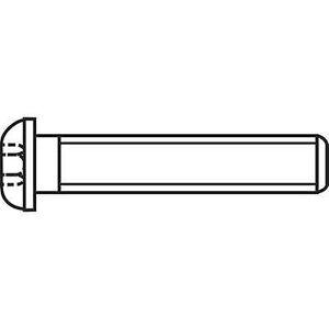TOOLCRAFT 839794 Linsesylinder skruer M3 16 mm Hex socket (Allen) ISO 7380 rustfritt stål A2 100 eller flere PCer
