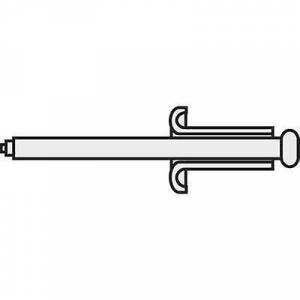TOOLCRAFT 194726 Blind klinke (Ø x L) 3 x 12 mm stål Aluminium A3 * 12 D7337-AL/ST 10 eller flere PCer