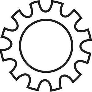 TOOLCRAFT 815144 tann-lås skiver innvendig diameter: 6,4 mm M6 stål sinkbelagt 100 PC (er)