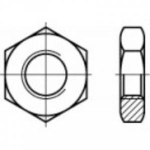 TOOLCRAFT 1060792 Sekskantet nøtter M2 DIN 439 rustfritt stål A4 100 eller flere PCer