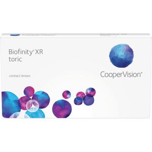 Biofinity XR toric (3 linser): +9.00, -1.75, 100