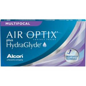 AIR OPTIX plus HydraGlyde Multifocal, -1.00, 8,6, 14,2, 6, 6, AD: LO (MAX ADD +1.25)