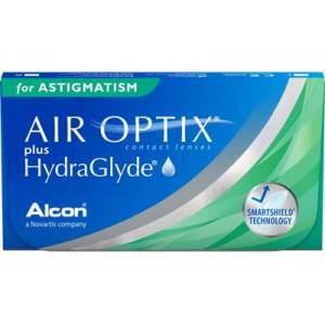 AIR OPTIX plus HydraGlyde for Astigmatism, +1.25, 8,7, 14,5, 6, 6, CY: -2.25, AX: 10