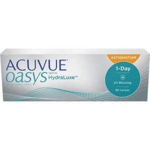 ACUVUE OASYS 1-Day for ASTIGMATISM (30 linser): +0.00, -1.25, 80