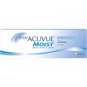 Acuvue 1-DAY ACUVUE MOIST for ASTIGMATISM 30-pack: -0.25, -1.25, 80
