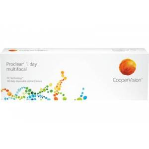 Proclear 1 day multifocal (30 linser): -9.50