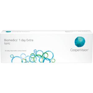 Biomedics 1 day Extra toric (30 linser): -5.00, -1.25, 160