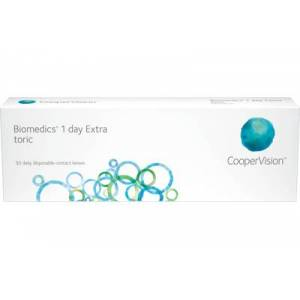 Biomedics 1 day Extra toric (30 linser): -4.50, -1.25, 180