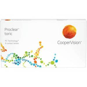 Proclear toric (6 linser): +0.50, -2.25, 150