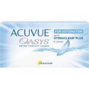 ACUVUE OASYS for Astigmatism (6 linser): +0.50, -1.25, 140