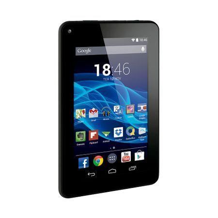 Multilaser Tablet Multilaser M7S Quad Core Preto Android 4.4 Kit Kat Dual Câmera Wi-Fi Tela Capacitiva 7 Pol. Memória 8GB - NB184 NB184