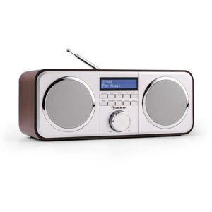 Auna Georgia DAB-radio FM kanavatallennus herätyskello AUX tumman ruskea