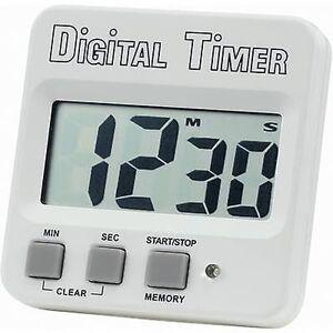 Basetech 640532 Timer hvit, svart Digital