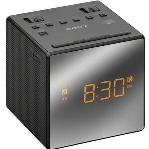 Sony Klockradio m. två alarm Svart