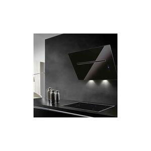 Eico Hamlet 80 N ECO Veggh. ventilator 800 mm, Rustfritt Stål/Sort Glass