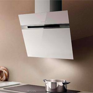 Eico Stripe TOP 90 W Veggh. ventilator 900 mm, Crystal White Glass/Forkrommet