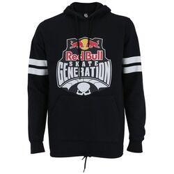 Red Bull Blusão de Moletom com Capuz Red Bull Logo Sk8 - Masculino - PRETO/BRANCO