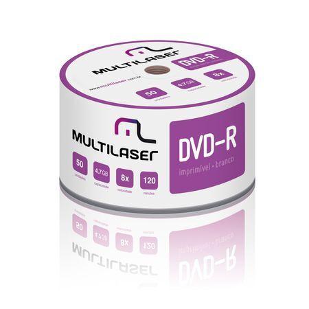Multilaser Mídia Multilaser DVD-R Printable 08X 4.7 GB - DV052 DV052