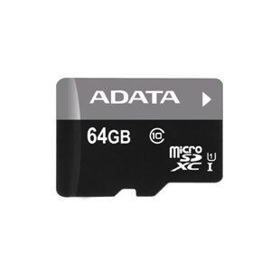 A-Data ADATA 64GB MicroSD W/adapter R:50MB/s W:10MB/s