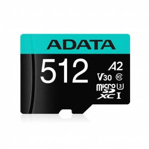 A-Data ADATA 512GB Micro SDXC UHS-I U3 V30S +Ad