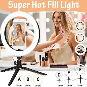 Newchic Super Hot 16cm/20cm/26cm Ring Fill Light Lamp NO/WITH Tripod for Selfie Photography Vlog Live Streaming Camera Video Beauty