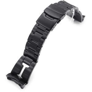 MiLTAT Retro Razor Black teräsranneke Seiko 5 -sarjaan SS221803BBK039-S5  - unisex