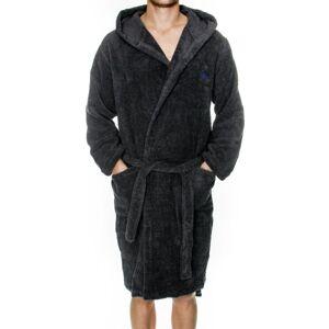 Emporio Armani Sponge Homewear Bathrobe - Anthracite  - Size: 10799-8A591 - Color: Metallin harmaa