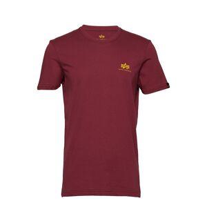Alpha Industries Basic T Small Logo T-shirts Short-sleeved Punainen Alpha Industries