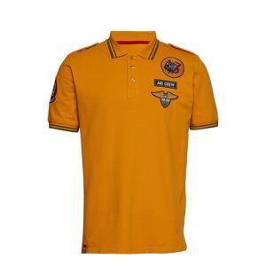 Alpha Industries Air Crew Polo Polos Short-sleeved Oranssi Alpha Industries