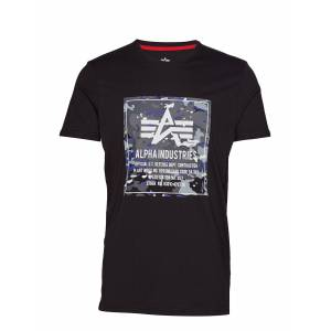 Alpha Industries Camo Block T T-shirts Short-sleeved Musta Alpha Industries