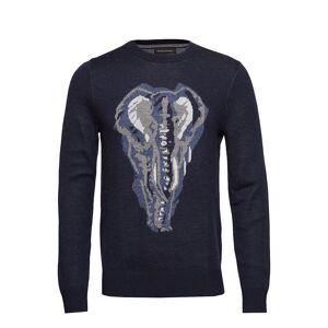 Banana Republic Elephant Graphic Sweater Neulepaita Pyöreä Kaula-aukko Sininen Banana Republic