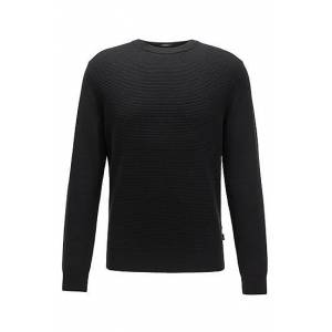 Boss Knitted sweater in cotton and virgin wool
