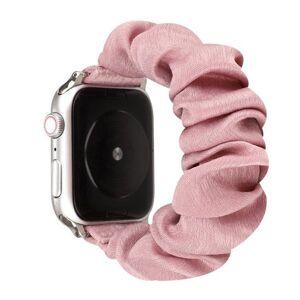 24hshop Ranneke Scrunchie Apple Watch Series 5 & 4 40mm / 3 & 2 & 1 38mm - Vaaleanpunaine
