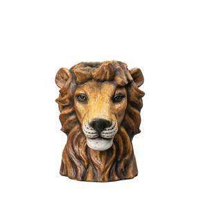 By On Vase Lion Small
