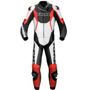 Spidi Sport Warrior Touring Two Piece Moottori pyörä nahka pukuMusta Punainen