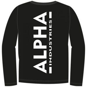 ALPHA INDUSTRIES ALPHA COLLEGEPAITA MUSTA - Back Print Heavy LS - ALPHA INDUSTRIES