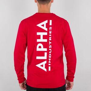 ALPHA INDUSTRIES ALPHA COLLEGEPAITA speed red - Back Print Heavy LS - ALPHA INDUSTRIES