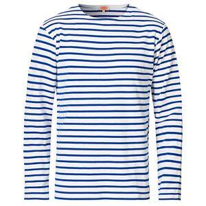 Armor-lux Houat Héritage Stripe Longsleeve T-shirt White/Blue men XXL Hvid