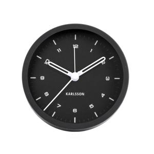 Karlsson Alarm clock Tinge steel black