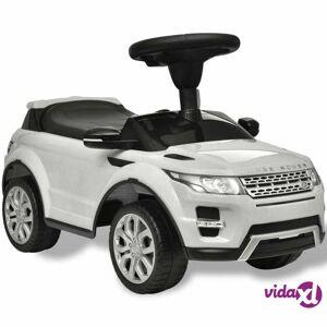 vidaXL Land Rover 348 Lasten Istuttava Auto Musiikilla Valkoinen